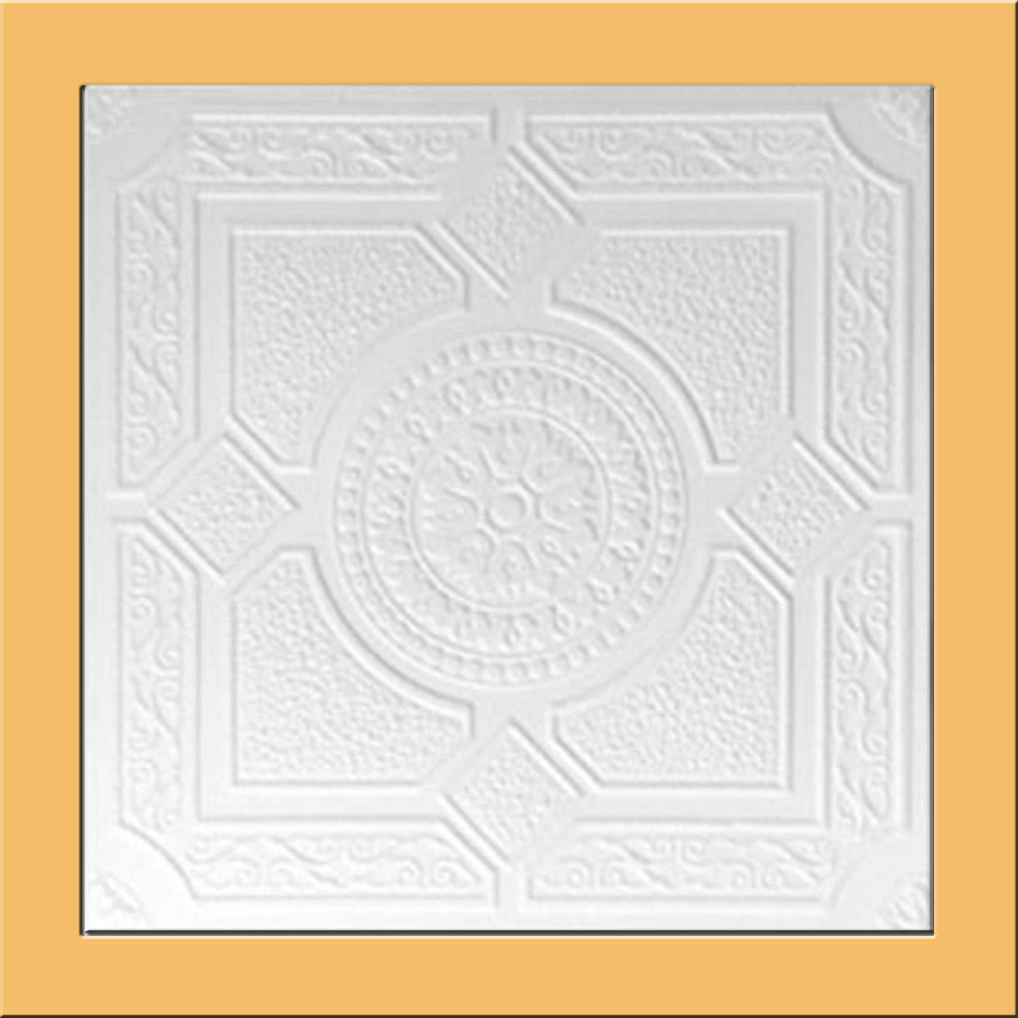 White Styrofoam Ceiling Tile Lima (Package of 8 Tiles) - same as Kensington Gardense and R30