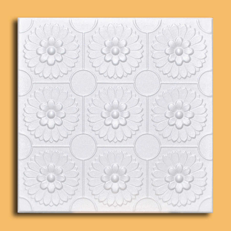 White Styrofoam Ceiling Tile Odessa (Package of 8 Tiles) - same as Sunflowers and R136